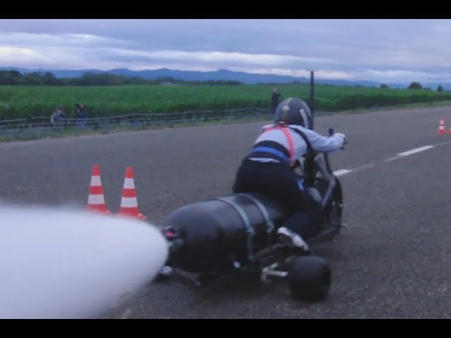WATER ROCKET TRIKE ǀ Previous tests at 145 km/h, 219 km/h and 245 km/h