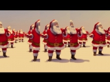 Santa Claus Dancing Jingle Bell Rock (Brenda Lee 1958) Topaz 2015