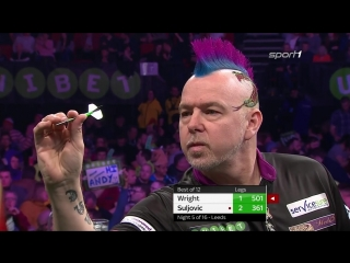 Peter Wright vs Mensur Suljović (2018 Premier League Darts / Week 5)