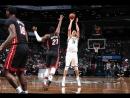 Трехочковый Тимофея Мозгова в матче Brooklyn Nets vs Miami Heat (107:88)  October 5, 2017