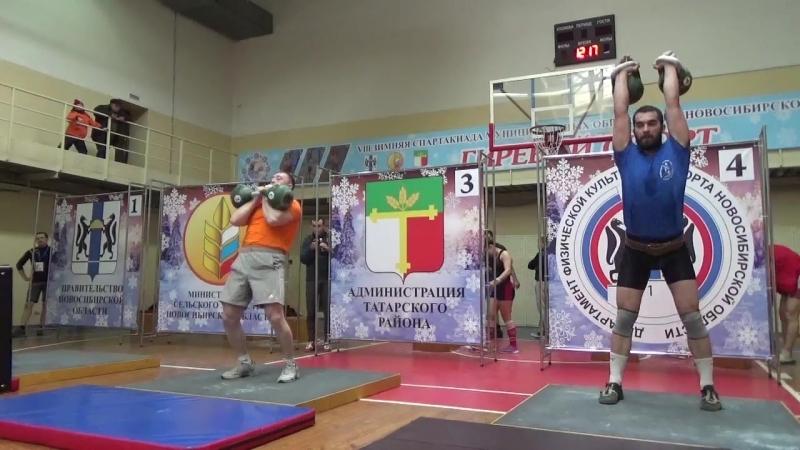 Ручкин Иван, весовая категория до 105кг, гири 24кг, 152 подъёма