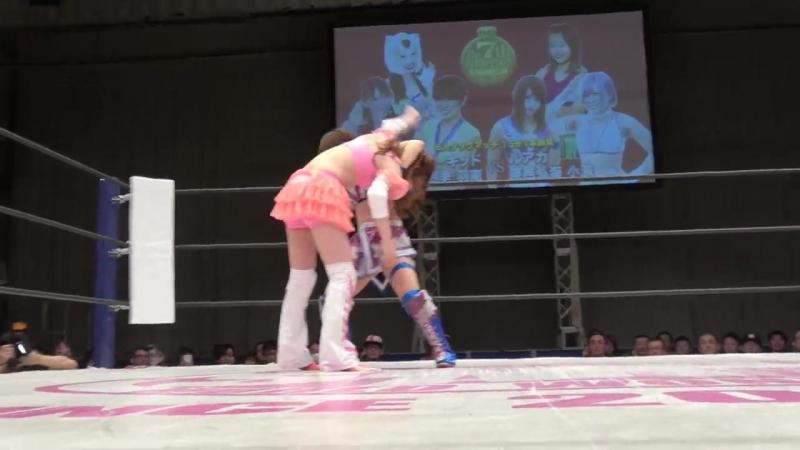 [My1] Стардом: Ханан, Старлайд Кид, Шики Шибусава против Хироми Мимура Конами Руака.