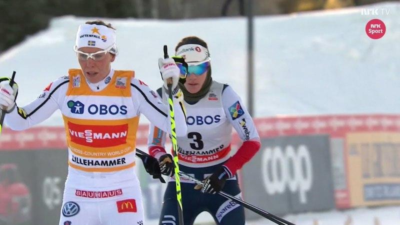 🇸🇪 Charlotte Kalla vs 🇳🇴 Heidi Weng - Womens 15 km skiathlon - Lillehammer 2017