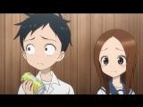 3 серия Двухголоска Поддразнивание Такаги / 03 Karakai Jouzu no Takagi-san комедия аниме про школу, любовь и романтику. Ня!