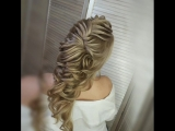 Текстурная греческая коса. Свадебная прическа 2018