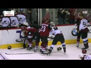 Gotta See It_ Rinaldo sucker punches Girard, brawl ensues
