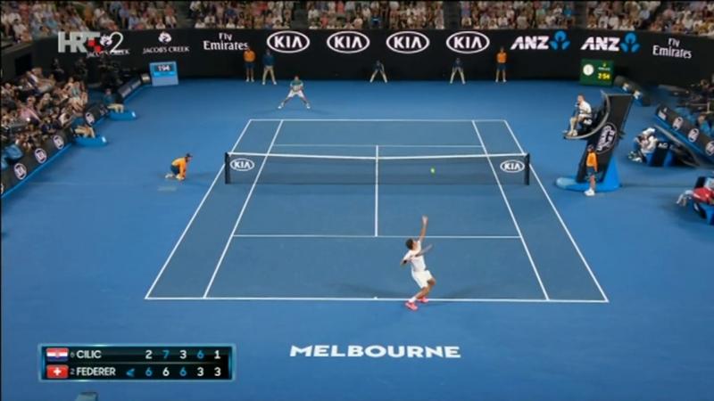 M. Cilic (CRO) - R. Federer (SWI) 2-6 7-6(5) 3-6 6-3 1-6, poslj. 4 gema, izjave (Finale, AUS Open), 28.01.2018. HD