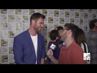 Chris Hemsworth Has a Lot of Love for Wonder Woman _ Comic-Con 2017 _ MTV