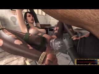 Lara Croft horse секс с конем порно мультик мультфильм аниме мульт хентай фильм hentai 3д 3d член хуй монстр зоо изнасилование