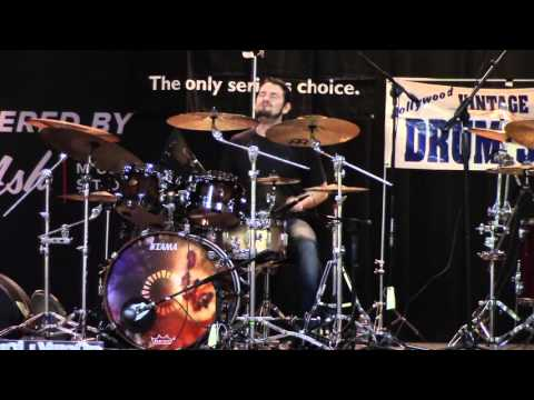 2015 Hollywood Drum Show Matt Garstka and Gergo Borlai Drum Duet Battle