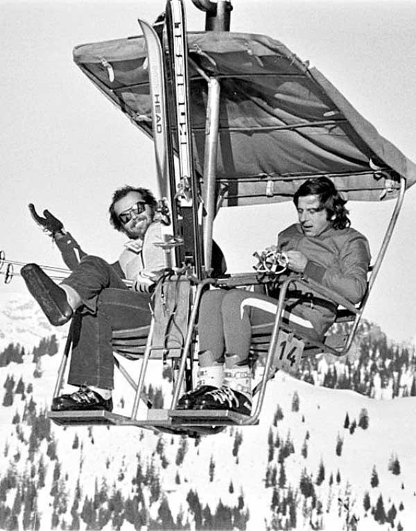 Джек Николсон и Роман Полански, Альпы, 1975 год