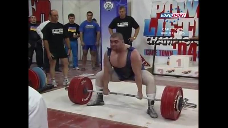 Евгений Ярымбаш - тяга 342,5 кг (125 кг)