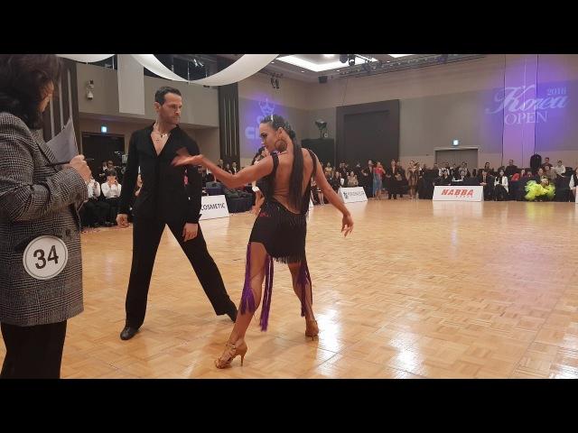 2018 Korea open open amateur Latin Salvo Sinnardi Viktoriya Kharchenko ChaChaCha