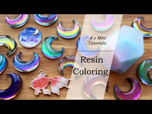 Mini Resin Tutorials: Resin Coloring (Color Shifting, Pearlescent, Colored UV Resin Clear Film)