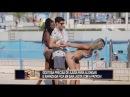 Sujeito casado ajuda gata a se alongar à beira da piscina e arruma confusão com a esposa