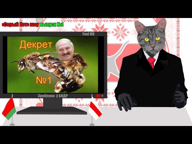 Декрет 1 (3), тунеядство, пропаганда, Лукашенко жжет - Серый Кот Шоу выпуск №1