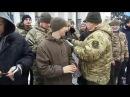 Видача шевронів першої сотні Сил Оборони України