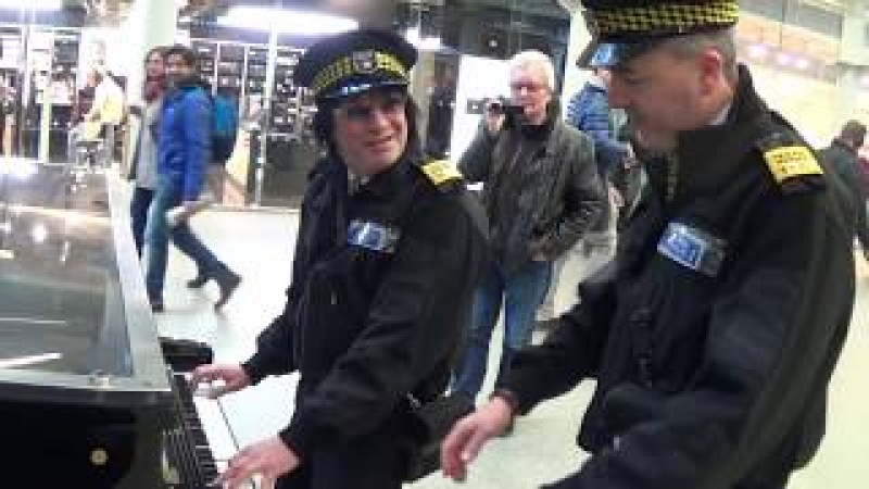 Two Traffic Wardens Ticket a Public Piano