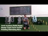 Kneeling Alternating Waves Battle Ropes Exercise