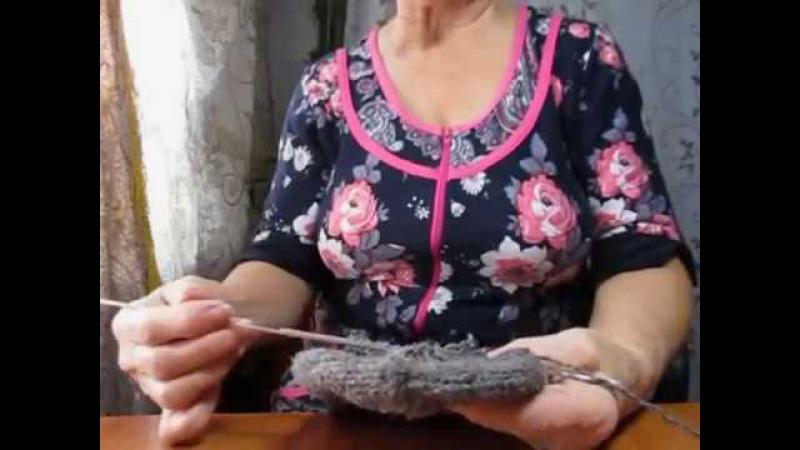 штопка вязаных носков спицами