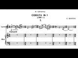 Alfred Schnittke Sonata for Violin and Piano No. 1 (score) Duo Sabatini-Rugani