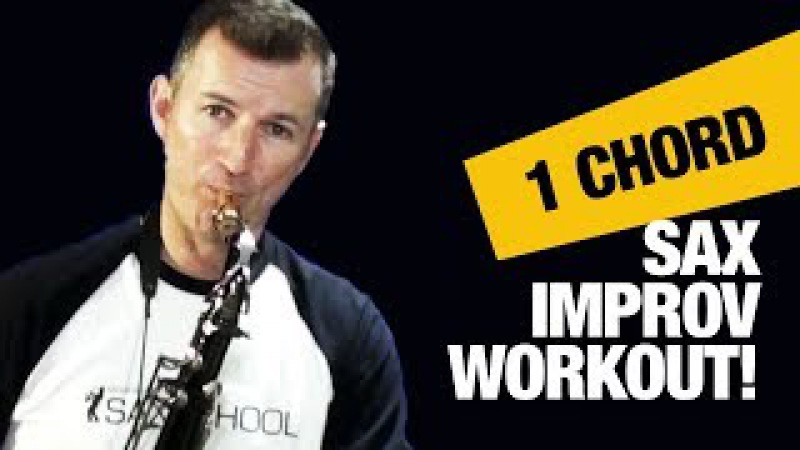 Jazz saxophone lessons for beginners The 1 Chord Improv Warmup by Nigel McGill