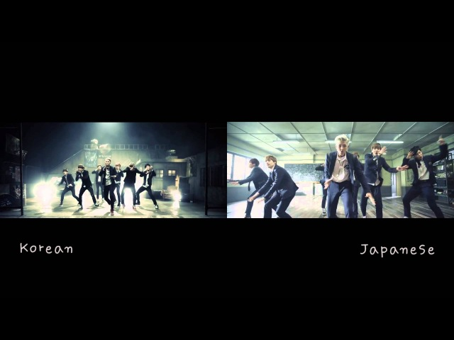 [MV Comparison JPN vs KR] Boy in Luv 상남자 - BTS Bangtan Boys (방탄소년단)