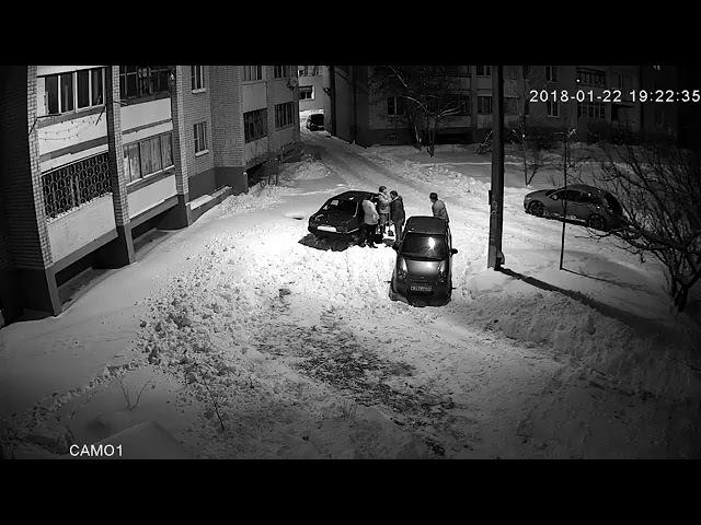 Воронеж Драка за место во дворе