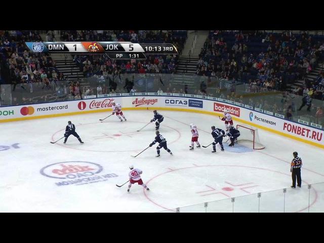 Моменты из матчей КХЛ сезона 16/17 • Гол. 1:6. Эли Толванен (Йокерит) оформил хет-трик 23.08