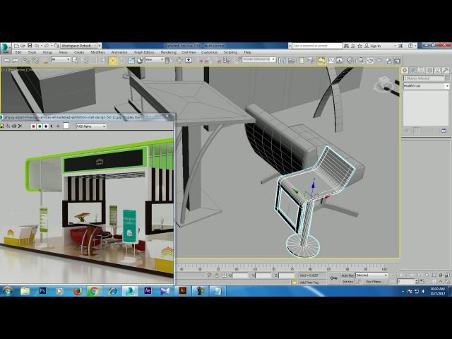 Tutorial on Modeling texturing and Lighting a stall in 3dsmax using Vray ( Part 4)