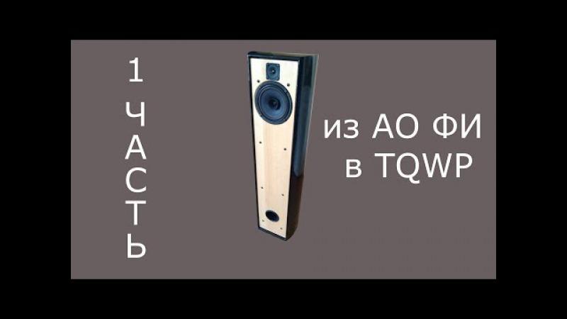 Переделка АС из АО ФИ в TQWP (1 часть) Ноэма 100ГДШ Vizaton