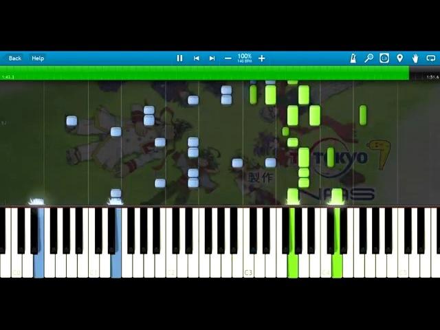 【遊☆戯☆王ARC-V (Yu-Gi-Oh! ARC-V)】 Speaking 「Piano Cover (Synthesia)」