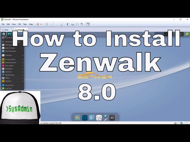 How to Install Zenwalk Linux 8.0 Review VMware Tools on VMware Workstation Tutorial [HD]