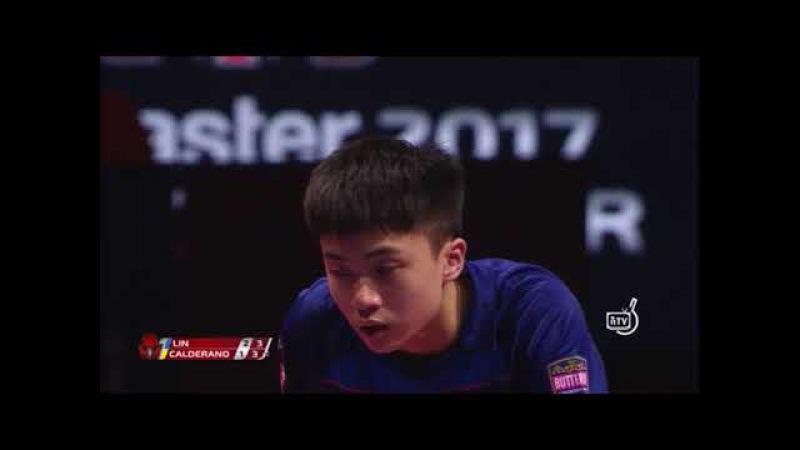 Calderano Hugo vs Lin Yun-Ju (Czech Open 2017) MS 1/4 Dramatic ending