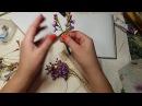 Лепка махрового цветка сирени сборка соцветия