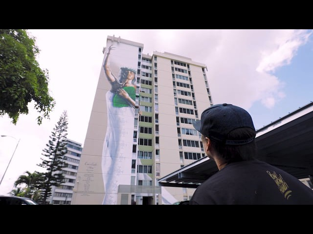 HINA by Kamea Hadar — the largest portrait in Hawaii's history