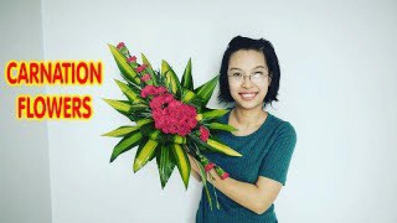 Cắm hoa bàn thờ tập 43 HOA CẪM CHƯỚNG Đỏ CARNATION Flowers Arrangement