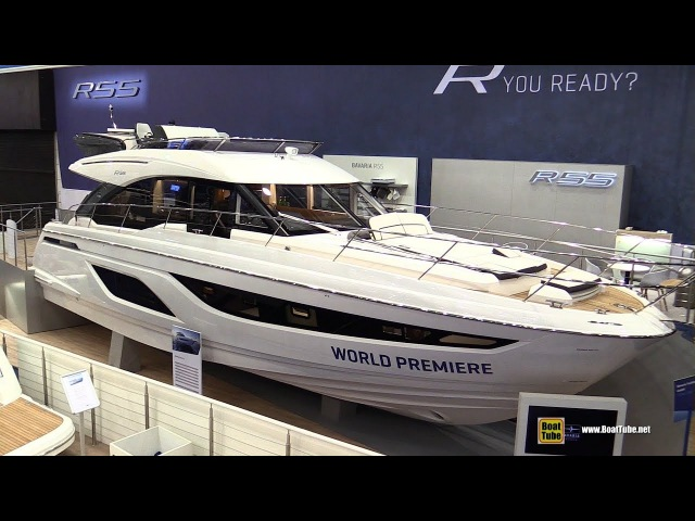 2018 Bavaria R55 Fly Motor Yacht Walkaround Debut at 2018 Boot Dusseldorf Boat Show