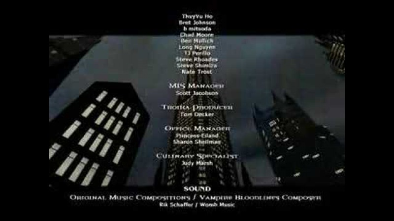 Vampire The Masquerade - Bloodlines, Credits Scroll