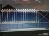 Сварные откатные ворота с калиткой  своими руками в гараже с жидкой паталью