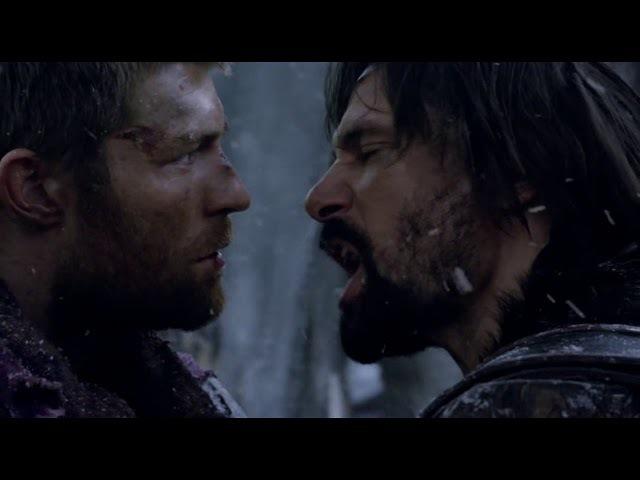 Спартак: Война проклятых. Драка Крикса и Спартака. Ты не бог!