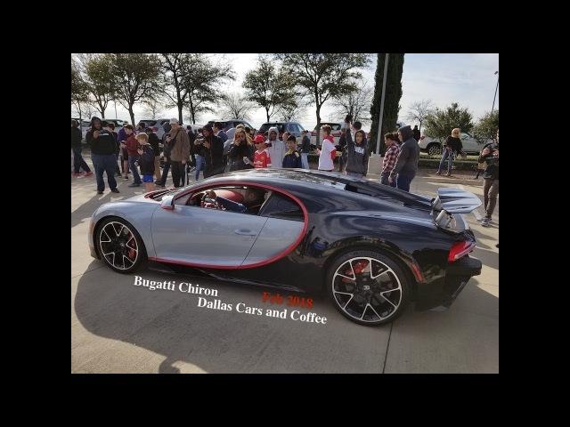Bugatti Chiron! Dallas Cars and Coffee Feb 2018
