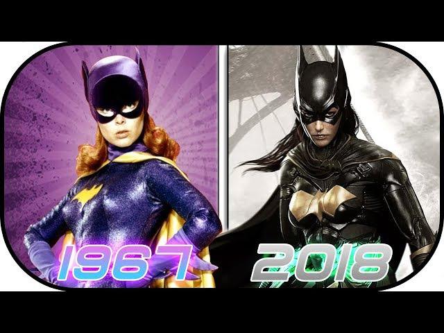 EVOLUTION of Batgirl Batwoman in Movies, Cartoons, TV (1967-2018) Batman Batgirl Justice League