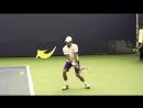 Техника игры в большой теннис Удар слева Часть 4