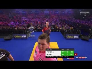Phil Taylor vs Keegan Brown (PDC World Darts Championship 2018 / Round 3)