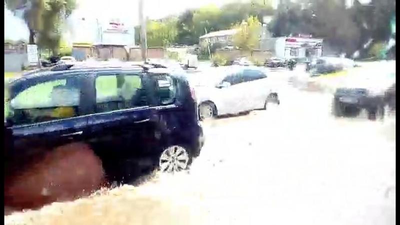 Последствия ливня в Калуге 21.07.2017
