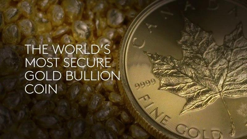 Монеты золотой Кленовый лист- самые защищенные золотые монеты в мире