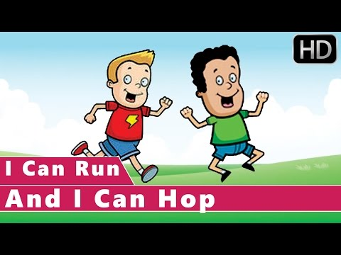 I Can Run And I Can Hop | Action Songs | Animation Nursery Rhymes for kids