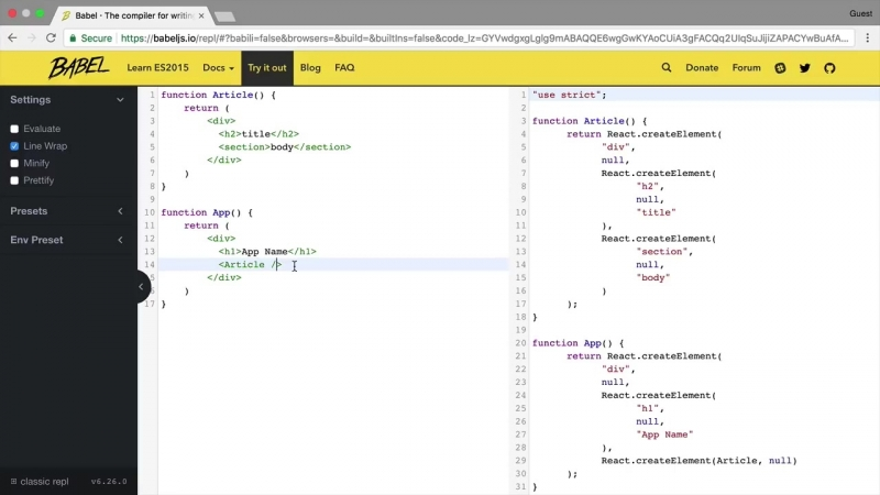 3. JSX - синтаксис для разметки в React.js - YouTube