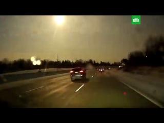 Кадры падения метеорита в США